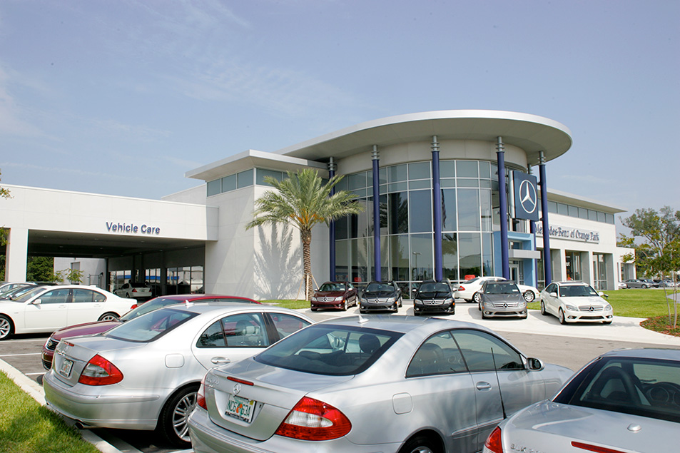 Auto Dealership Construction Project Mercedes Benz Of